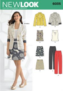 6035 New Look Pattern: Misses' Separates